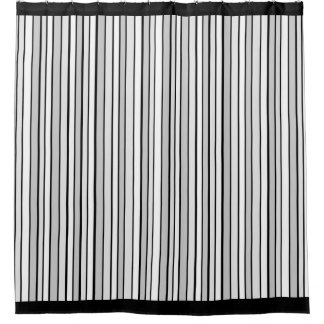 Gray Stripes Shower Curtains | Zazzle