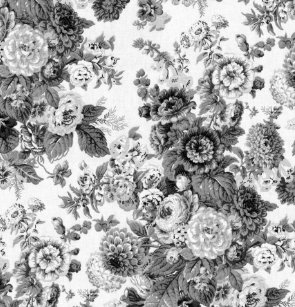 Black White Gray Tone Vintage Floral Toile No3 Shower Curtain