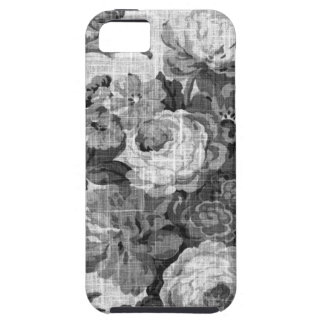 Black & White Gray Tone  Vintage Floral Toile No.4 iPhone SE/5/5s Case