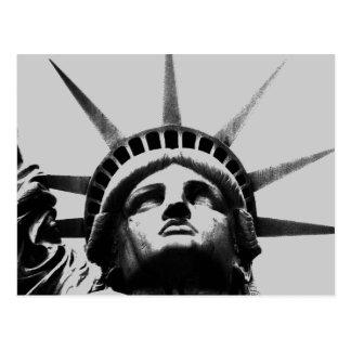 Black & White Grayscale Statue of Liberty Postcard