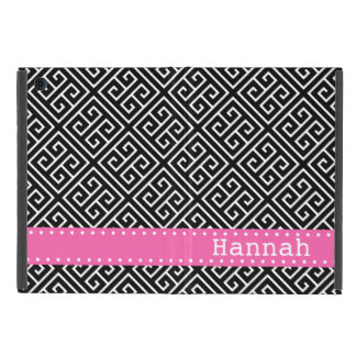 Black White Greek Key Pattern Pink Template Case For iPad Mini