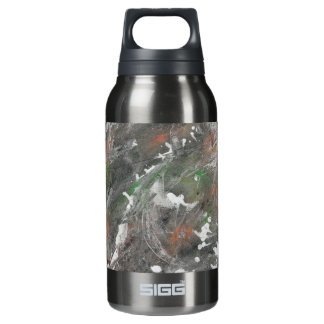Black, White, Green Background Insulated Water Bottle