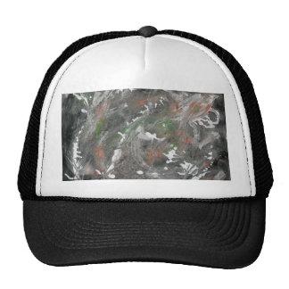 Black White Green Background Mesh Hat