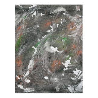 Black, White, Green Background Postcard