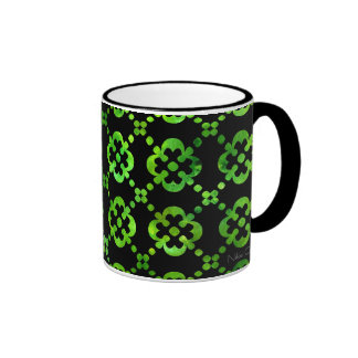 Black & White Green Cross Mug