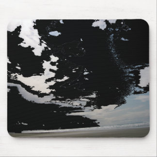 Black white grey abstract photo sky and beach mouse pad