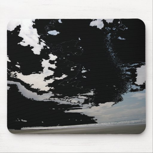 Black white grey abstract photo sky and beach mousepad