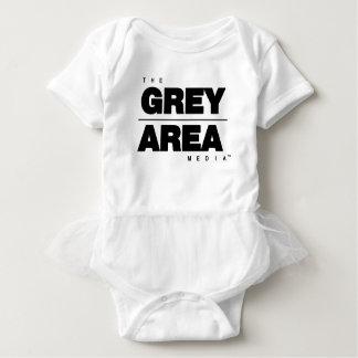 Black/ White Grey Area Apparel Baby Bodysuit