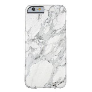 Black White Grey Carrara Marble iPhone 6 Case