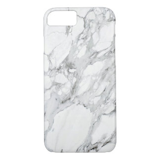 Black White Grey Carrara Marble iPhone 7 Case