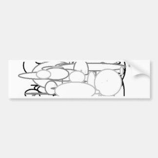 Black White Grey Circles, Digital Art by Kids :) Car Bumper Sticker