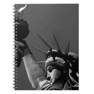 Black White & Grey Lady Liberty Notebook