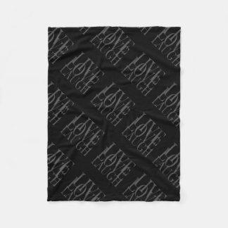 Black White Grey Live Love Laugh Inspirational Fleece Blanket