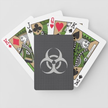 Beach Themed Black White & Grey Toxic Carbon Fiber Bicycle Playing Cards