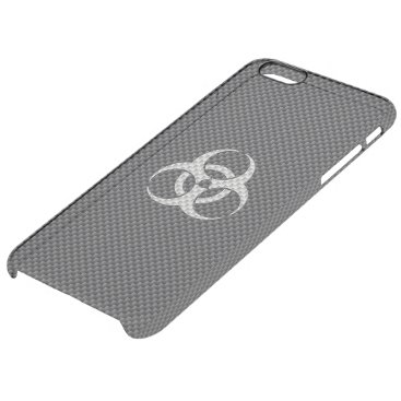 Halloween Themed Black White & Grey Toxic Carbon Fiber Clear iPhone 6 Plus Case