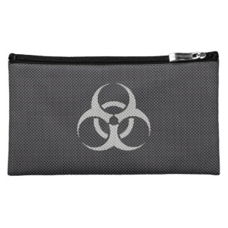 Black White & Grey Toxic Carbon Fiber Cosmetic Bag