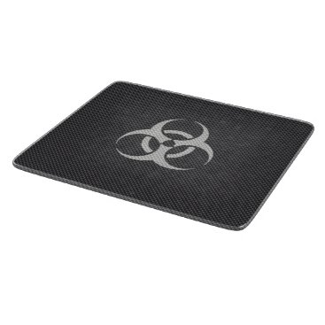 Beach Themed Black White & Grey Toxic Carbon Fiber Cutting Board