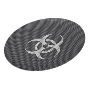 astroskins Black White & Grey Toxic Carbon Fiber Dinner Plate