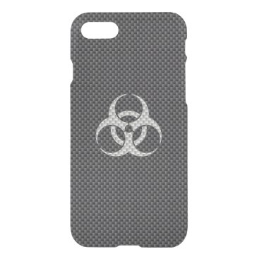 Beach Themed Black White & Grey Toxic Carbon Fiber iPhone 7 Case