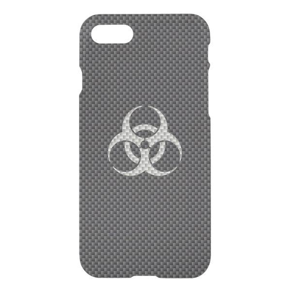 Black White & Grey Toxic Carbon Fiber iPhone 7 Case