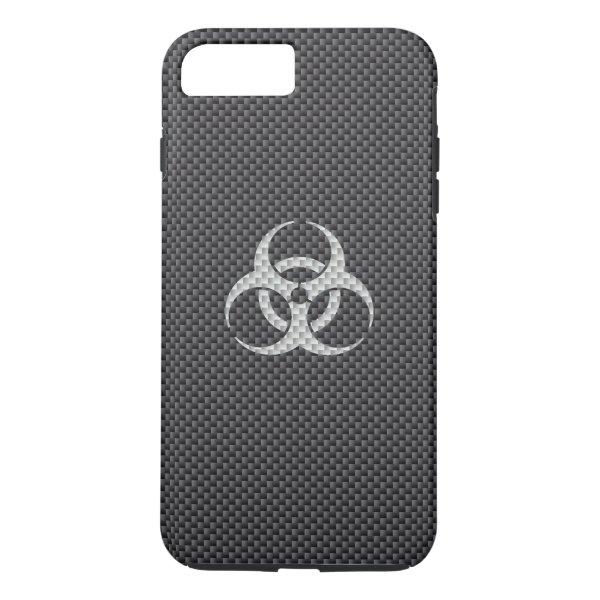 Black White & Grey Toxic Carbon Fiber iPhone 7 Plus Case