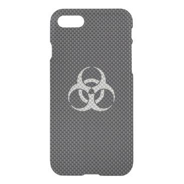 Halloween Themed Black White & Grey Toxic Carbon Fiber iPhone 8/7 Case