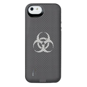 Beach Themed Black White & Grey Toxic Carbon Fiber iPhone SE/5/5s Battery Case