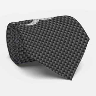 Black White & Grey Toxic Carbon Fiber Neck Tie