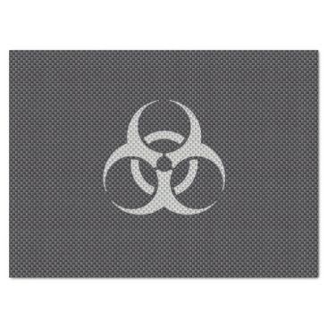 Beach Themed Black White & Grey Toxic Carbon Fiber Tissue Paper