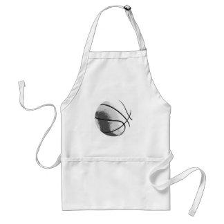 Black White Grey Trendy Pop Art Basketball Apron
