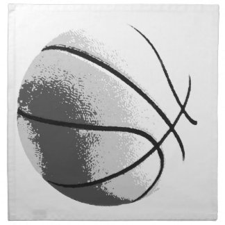 Black White Grey Trendy Pop Art Basketball Cloth Napkin