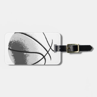 Black White Grey Trendy Pop Art Basketball Tags For Luggage
