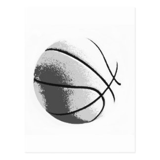 Black White Grey Trendy Pop Art Basketball Postcard