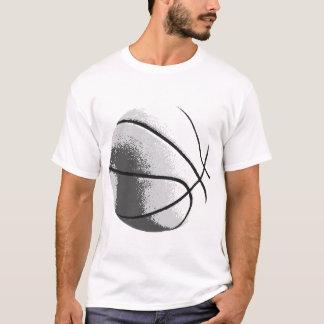 Black White Grey Trendy Pop Art Basketball T-Shirt