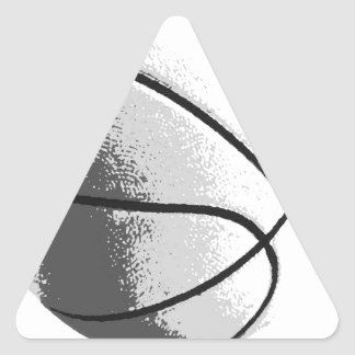 Black White Grey Trendy Pop Art Basketball Triangle Sticker