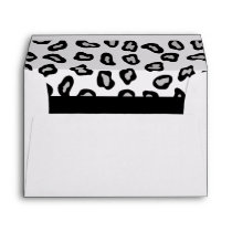 Black, White & Grey Zebra & Cheetah Skin Envelope