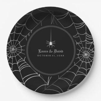 Black & White Halloween Spider Web Wedding