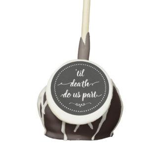 Black & White Halloween Til Death Do Us Part Cake Pops