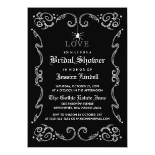 60% Off Halloween Bridal Shower Invitations – Shop Now to Save | Zazzle