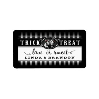 Black & White Halloween Wedding Name Love is Sweet