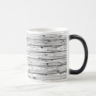 Black & White Hand Drawn Rustic Wood Faux Bois Magic Mug