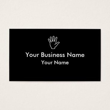 Professional Business Black white hand simple business cards