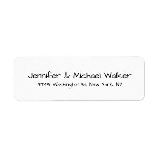 Black White Handwriting Script Elegant Family Label