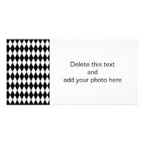Black White Harlequin Pattern Card