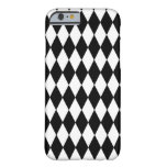 Black White Harlequin Pattern Barely There iPhone 6 Case