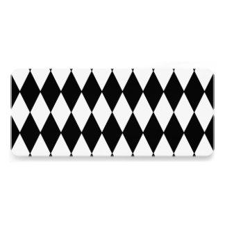 Black White Harlequin Pattern Custom Invite