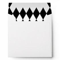 Black White Harlequin Pattern Envelope