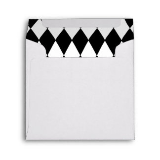 Black White Harlequin Pattern Envelope