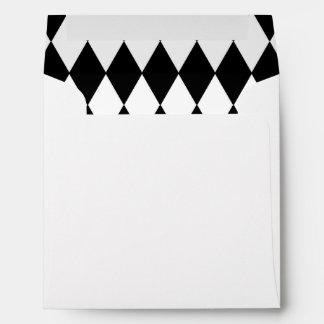 Black White Harlequin Pattern Envelopes