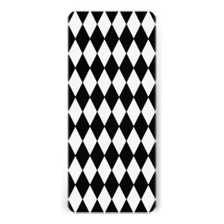 Black White Harlequin Pattern Invites
